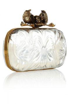 Alexander McQueen Iris Plexiglas box clutch $2,295