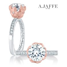 Style MES563 Think pink! Just one of the many ways we can customize any A.JAFFE style to fit your aesthetic! Customization is complimentary? #customring #diamondring #engagementring