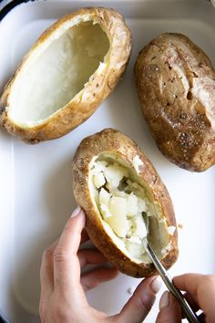 Twice Baked Potatoes Easy Twice Baked Potatoes, Baked Potato Recipes, Brown Rice Cooking, Perfect Baked Potato, Fluffy Mashed Potatoes, Fresh Chives, Side Dishes Easy, Cooking Time, Gluten Free Recipes