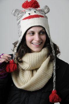 Damen-accessoires Hüte & Mützen Men Women Winter Knitted Hat With Faux Fur Pom Pom Warm Sport Cap Beanie Hat B AusgewäHltes Material