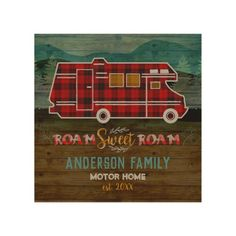 Motorhome RV Camper Travel Van Rustic Personalized Wood Wall Decor   mom camping, camping wreath, day camping ideas #nylon #dishscrubber #dishscrubbers Beach Camping Tips, Couples Camping, Camping Hacks, Camping Ideas, Travel Trailer Camping, Rv Travel, Tent Camping, Wood Wall Decor, Wood Wall Art