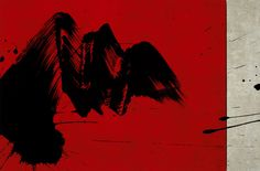Fabienne VERDIER      « Vue des falaises du Chasseron »  technique mixte et encre, 2008  46 x 69.5 cm