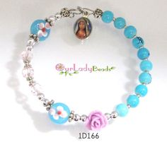 Girl's One-Decade Rosary BraceletTeen Rosary by OURLADYBeads