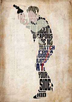 Han Solo, Star Wars Poster - cartel de película, impresión del arte, tipografía minimalista cartel, Ilustración, arte de pared