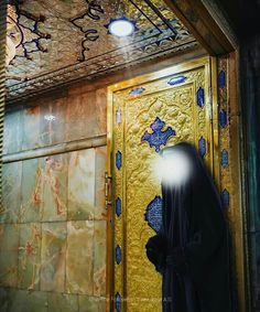 """"""" Fatima bint Muhammad attends with the Visitors of the grave Of her son Hussein and asks forgiveness for their sins on behalf of them.""""  — Imam Jafar al-Sadiq (ع)"""