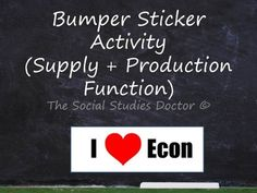 Bumper Sticker Activity (supply curve and production function)