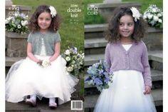King Cole 3546 Girls Cardigans in Galaxy DK (leaflet) - Wool Warehouse - Buy Yarn, Wool, Needles & Other Knitting Supplies Online!
