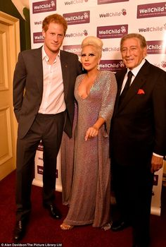 Prince Harry (left) attended the Royal Albert Hall for concert in aid of WellChild tonight...