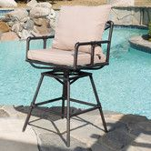 Found it at Wayfair - Piper Adjustable Height Swivel Bar Stool with Cushion