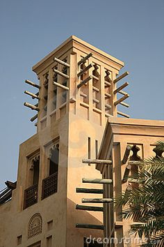 traditional windtower in Bastakia Dubai