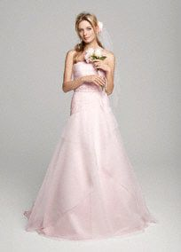 I am in love with pink wedding dresses right now!