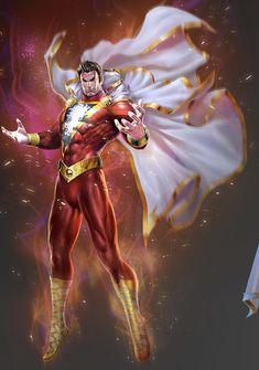 Dc Comics Heroes, Arte Dc Comics, Dc Comics Characters, Marvel Heroes, Marvel Comics, Captain Marvel Shazam, Comic Style Art, Univers Dc, Batman Universe