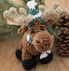 They don't call him Merry Moose for nothing! This adorable crocheted toy is perfect for winter decor or a holiday gift. Free pattern accompanies the video workshop on Craft Daily