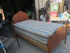 Nice Antique Wood Twin Bed