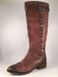 Arturo Chiang Leather Riding Boots Size 7 Moto Cognac #ArturoChiang #RidingEquestrian #Casual