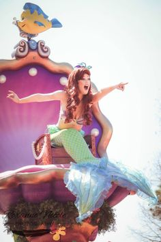 little mermaid in the FESTIVAL OF FANTASY PARADE GOODBYE I LOVE THIS PARADE TOO MUCH