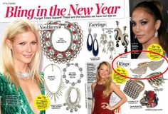 (Jan 2012) Life & Style Weekly:  Bling in the New Year with the CC Skye Pave Angel Wing Ring.
