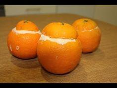 Cómo hacer naranjas heladas o helado de naranja en cascara - YouTube