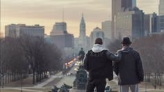 Still of Sylvester Stallone and Michael B. Jordan in Creed (2015) - Excellent! Went to see a second time ...
