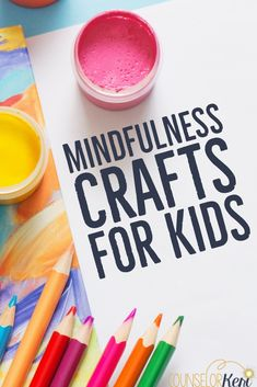 Want to practice mindfulness activities at home? You'll love these mindfulness crafts and your kids will too! Try them at home or at school. These mindfulness activities for kids are perfect for mindf Teaching Mindfulness, Mindfulness Exercises, Mindfulness For Kids, Mindfulness Activities, Mindfullness Activities For Kids, Mindfulness Therapy, Mindfulness Books, Counseling Activities, Art Therapy Activities