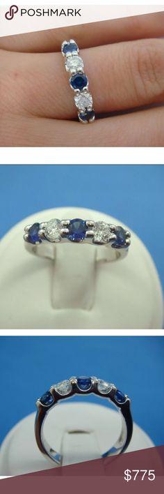 Beautiful 0.80 carat 14k diamond and sapphire ring Beautiful 0.80 carat 14k diamond & blue sapphire ring Jewelry Rings