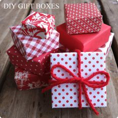 DIY Gift Boxes @ Blissful Roots