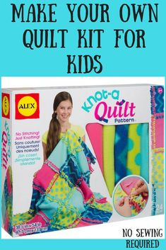 This ALEX Toys Craft Knot-A-Quilt Pattern kit is a unique way to make a beautiful throw or blanket without stitching! Fun Crafts To Do, Crafts For Kids, Homeade Gifts, Alex Toys, Kits For Kids, Toy Craft, Inspirational Gifts, Make Your Own, Quilt Patterns