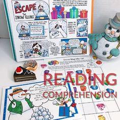 HOLIDAY ESCAPE ROOM: READING COMPREHENSION, FIGURATIVE LANGUAGE, & PUZZLES