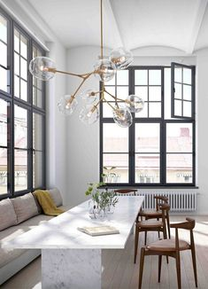 Lovely Modern Dining Room Decorating Ideas - All About Decoration Dining Room Wall Decor, Dining Room Lighting, Dining Room Design, Dining Room Furniture, Room Decor, Room Chairs, Ceiling Lighting, Chandelier Lighting, Furniture Design