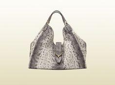 64e3f1e05913fe Soft grey animalier karung printed leather by Gucci Gucci Purses, Hermes  Handbags, Coach Handbags