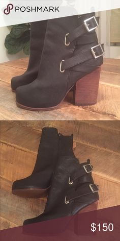 🆕 Jeffrey Campbell Savanna Boots Worn once in a fashion show. Don't have box Jeffrey Campbell Shoes Heeled Boots