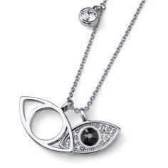 Κολιέ από ρόδιο και πέτρες Swarovski! #swarovski Stones And Crystals, Pendant, Silver, Swarovski, Jewelry, Outfit, Party, Fashion, Outfits