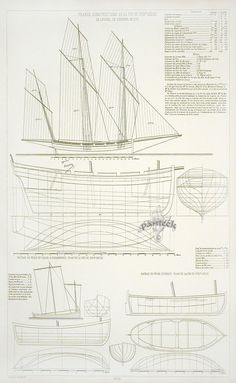 My Boats Plans - Amiral Paris Ship Plans, 1882 Master Boat Builder with 31 Years of Experience Finally Releases Archive Of 518 Illustrated, Step-By-Step Boat Plans Model Sailing Ships, Model Ships, Wooden Boat Plans, Wooden Boats, Cruise Europe, Ship Drawing, Best Boats, Wooden Ship, Canal Boat