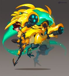 "Dashi on Twitter: ""#DVa (or B.Va ) finally got done! The mech, I drew my own interpretation of, so it's very much off model. #Overwatch…"