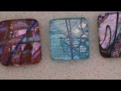 Dichroic cabochons and fusing glass 1a - How to Fuse Glass - Dichroic Glass Man