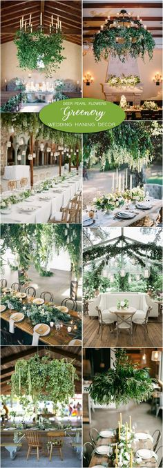 Greenery wedding hanging decor ideas / http://www.deerpearlflowers.com/greenery-wedding-decor-ideas/2/