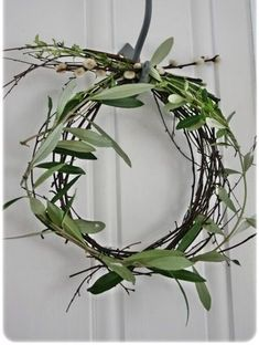 olive-branch-wreath-wedding-ceremony-decorations - Once Wed Decoration Christmas, Noel Christmas, Simple Christmas, Winter Christmas, Winter Holidays, All Things Christmas, Christmas Wreaths, Christmas Crafts, Xmas