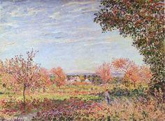 """""""September Morning"""" - Alfred Sisley - 1887"""