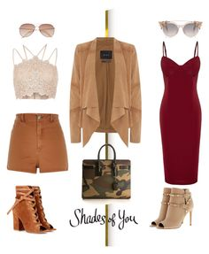 """""""Untitled #37"""" by amandasoraya on Polyvore featuring Gianvito Rossi, River Island, Oui, Valentino, Yves Saint Laurent and H&M"""