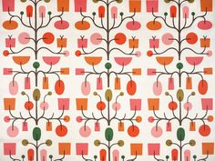 alexander girard: Fruit Tree #1065 Drapery Fabric