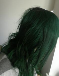 Hair Color Ideas 2017/ 2018 : Alternative to black? | manic panic enchanted forest unbleached hair Google Se