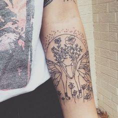 fusion of Bound to Moonlight + Full Moon illustrations on Mary @maryyysmith   tattooed by @barbarikerik