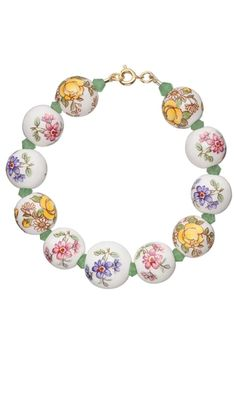 Bracelet with Porcelain Beads, Tensha Water Decals and Celestial Crystal® Beads