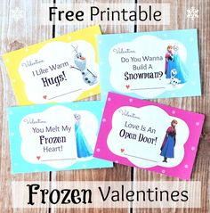 Free Printable Disney Frozen Valentine's Day Cards -->