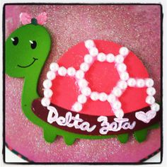 Delta Zeta <3 I can't wait to make things like this for my big! #craftygirl