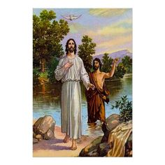 Matthew 3:13-17 Jesus Is Baptized Poster