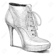 vector drawing of woman fashion high heel shoes boots in ink. - vector drawing of woman fashion high heel shoes boots in ink. vector drawing of woman fashion high heel shoes boots in ink engraving Fashion Boots, Fashion Art, Trendy Fashion, Womens Fashion, Fashion Design, Fashion Vector, Fashion Heels, Style Fashion, Shoe Sketches
