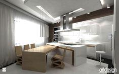 projekt nowoczesnej kuchni - Kuchnia - Styl Nowoczesny - ARTDESIGN architektura wnętrz