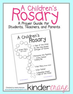 FREE illustrated guide to help young children and their families pray a single decade of the Rosary...great tutorial!