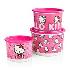 Are you a Hello Kitty Fan??? Look what just came out in our New Summer Catalog. 3pc Canister Set for only $30. Get yours before they sell out. They will go fast. You can message me with your order and pay via PayPal. You can also order by going to my site http://crystalborey.my.tupperware.com/